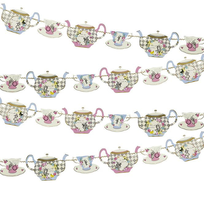 Alice in Wonderland Teapot Bunting - The Party Postman