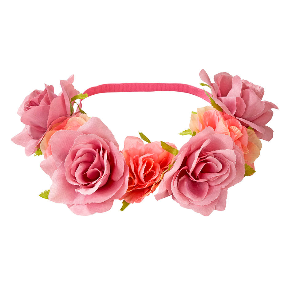 Pink and Dusty Pink Floral Head band for Weddings or bridal showers