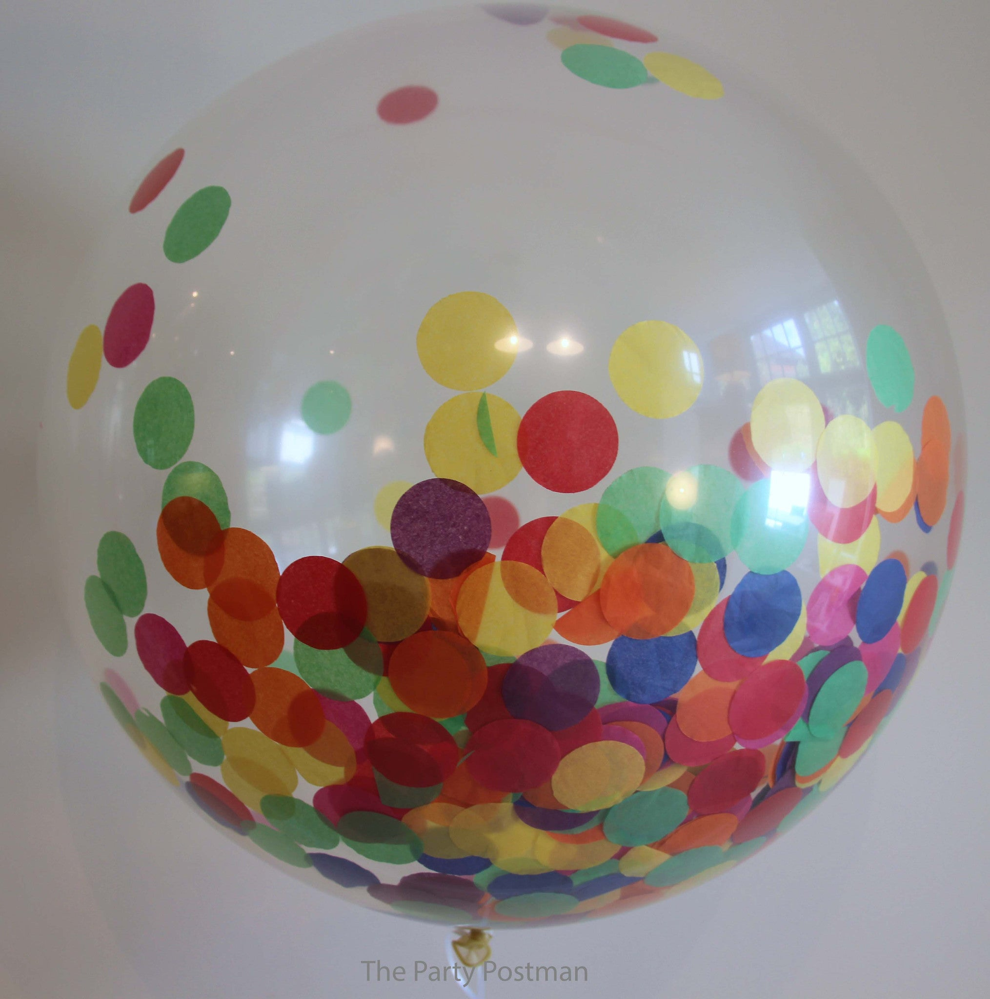 Confetti Filled Giant Round Clear Balloons The Party Postman