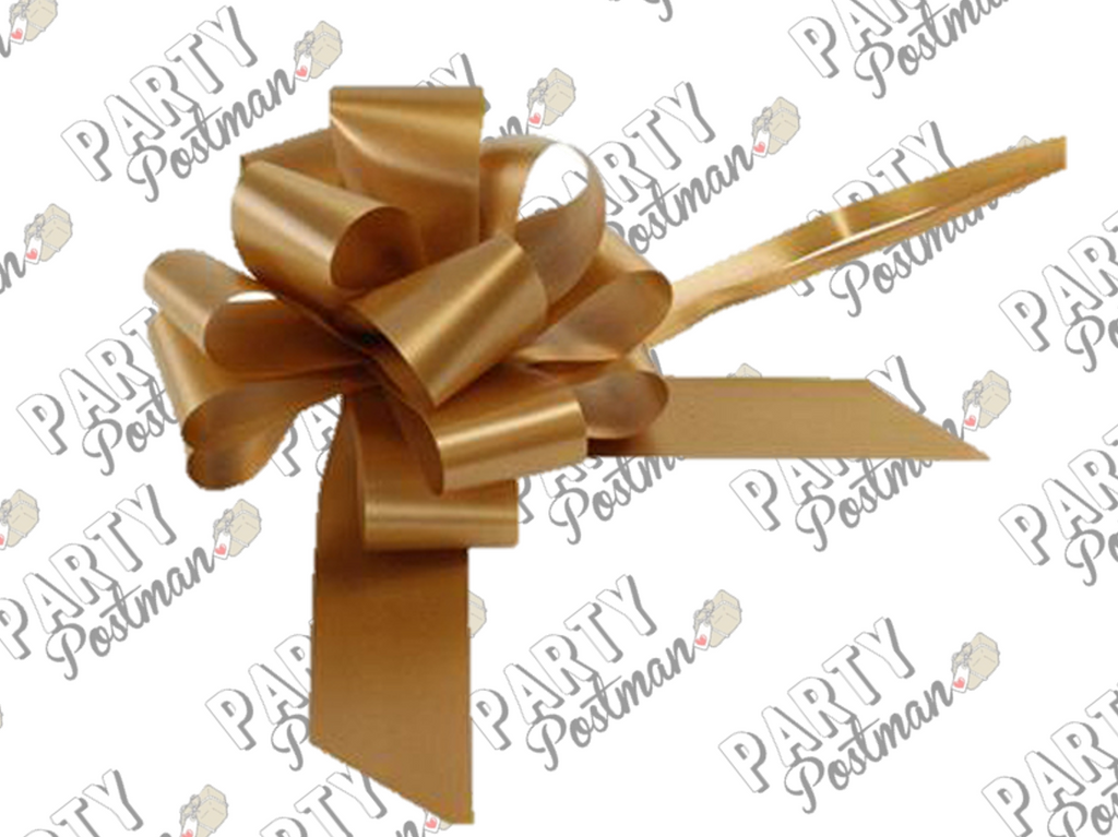 50mm Pull Bow in Gold - The Party Postman