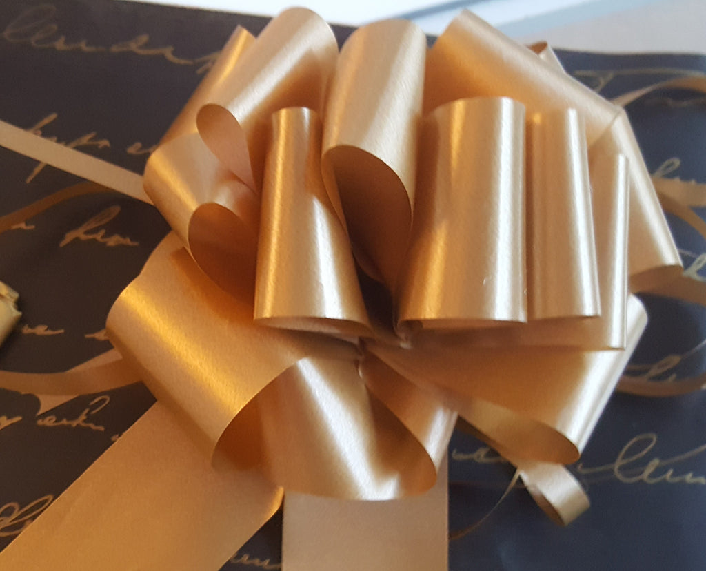 Black Kraft and Gold Script Writing Wrapping Paper - The Party Postman