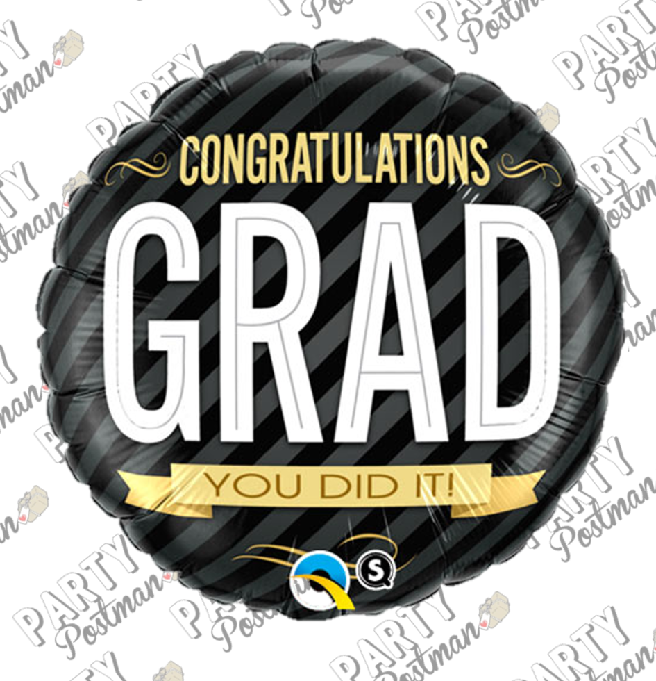 "18"" Graduation Foil Balloon - The Party Postman"