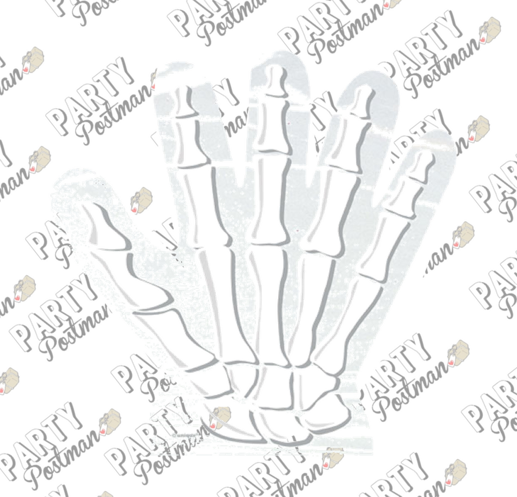 Skeleton Hand Shaped Cello Bags - 10 Pack