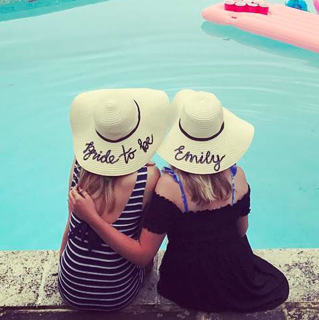 Sequin Honeymoon Hats - Personalized Sun Hats with your name or phrase