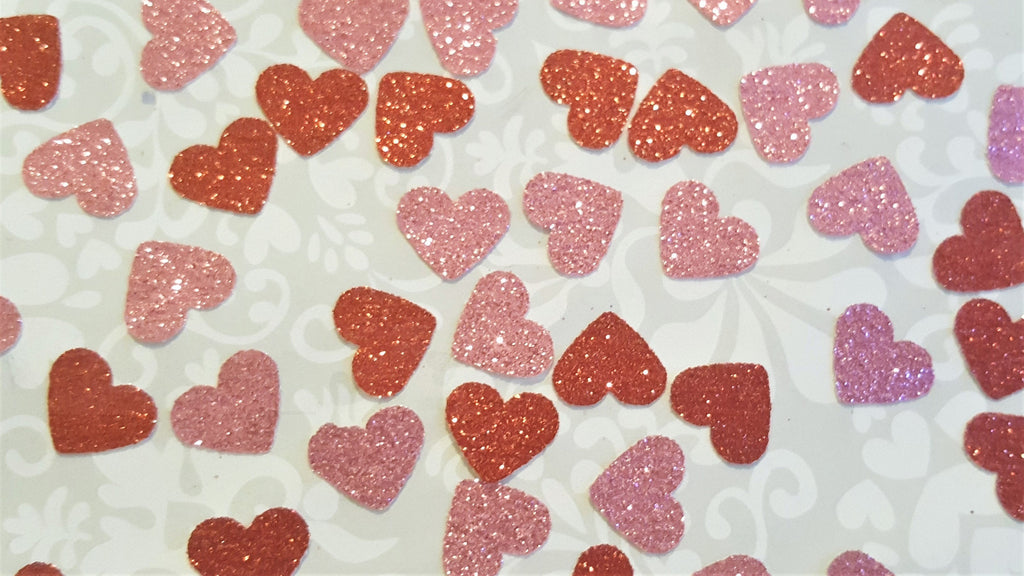 Glitter Heart Confetti - The Party Postman