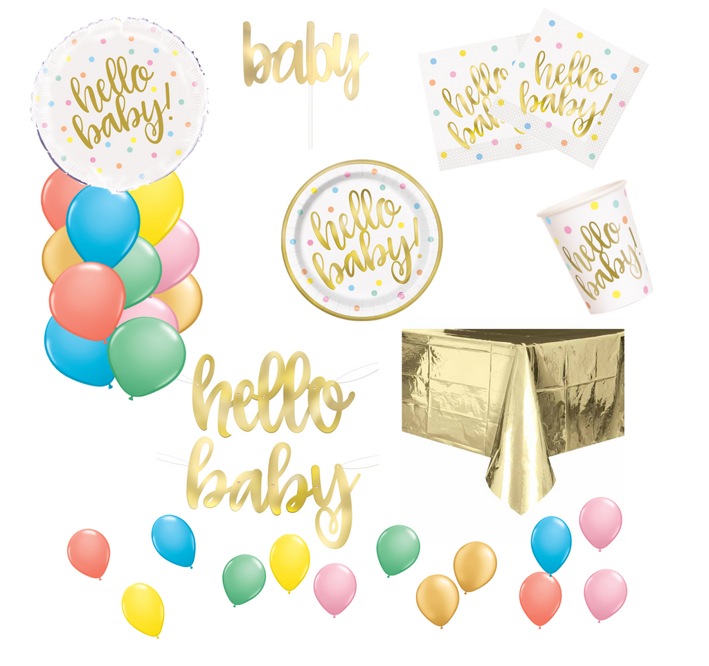 Hello Baby Shower Party Packs