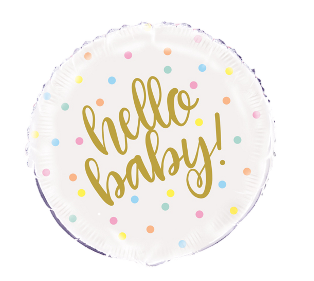 Hello Baby Gold Foil Balloon Bundles