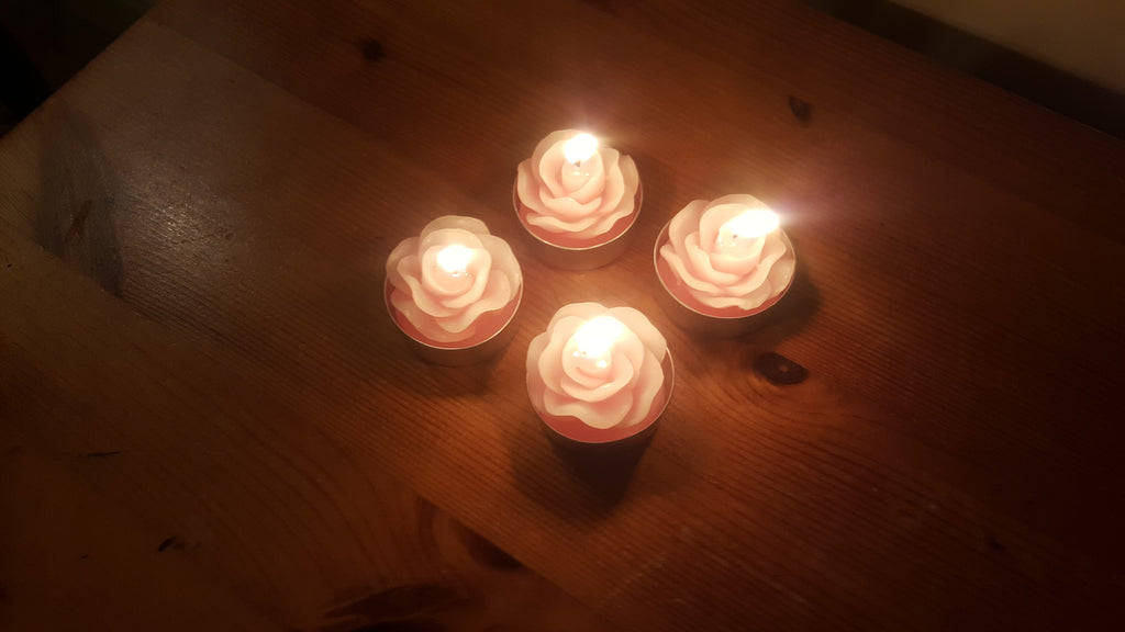 Rose Tea Lights - The Party Postman