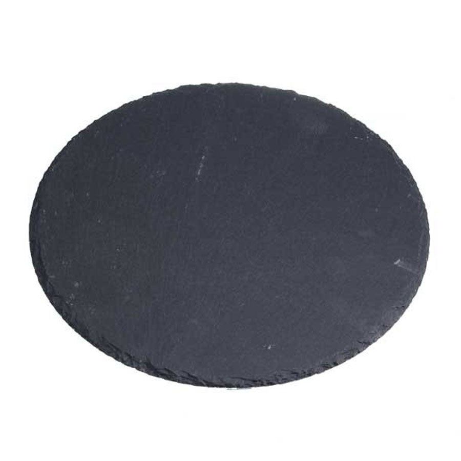 20cm Round Slate Plates for Table Settings or Weddings