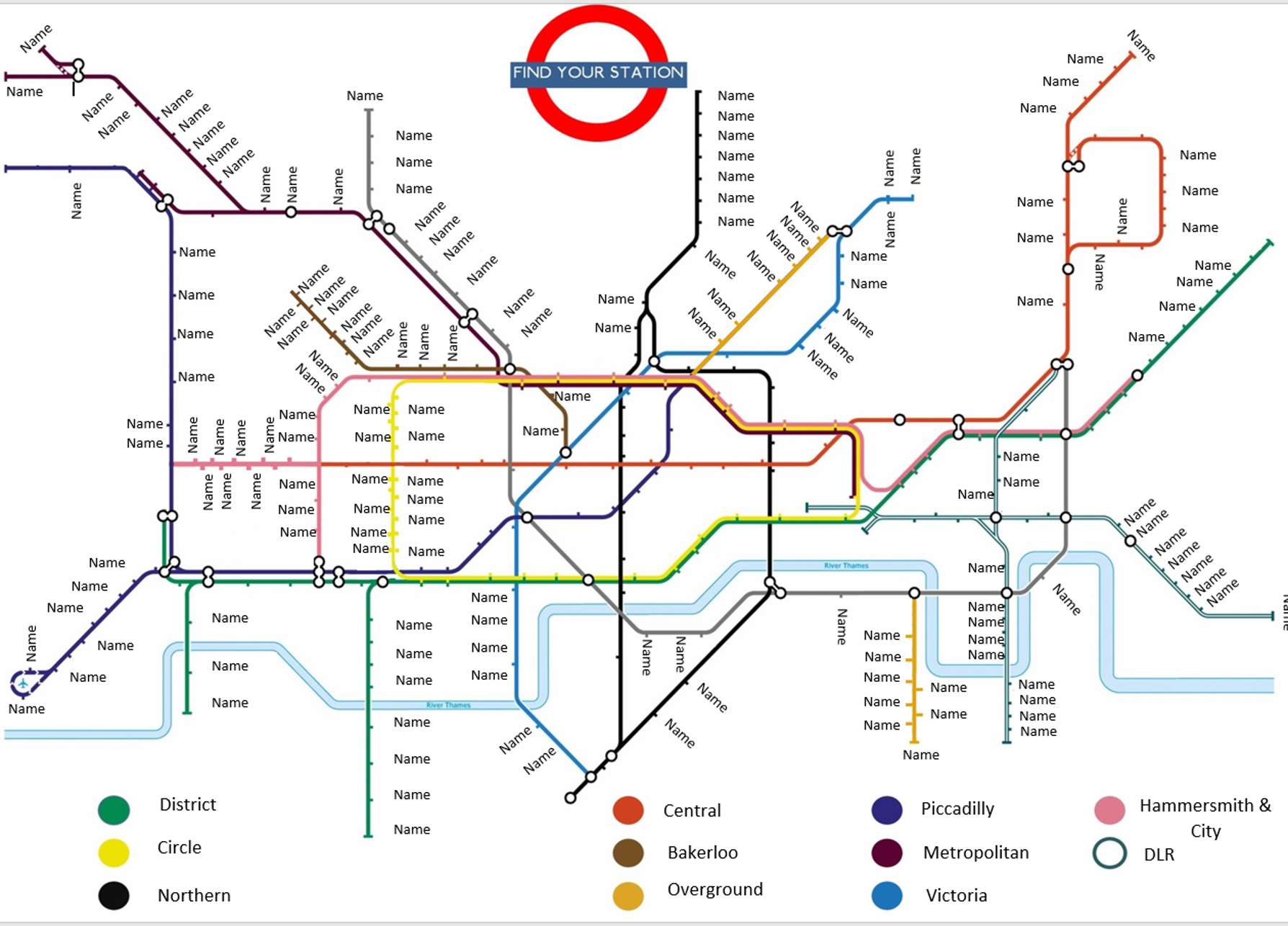 London Tube Map Table Seating Plan With Stations For Weddings