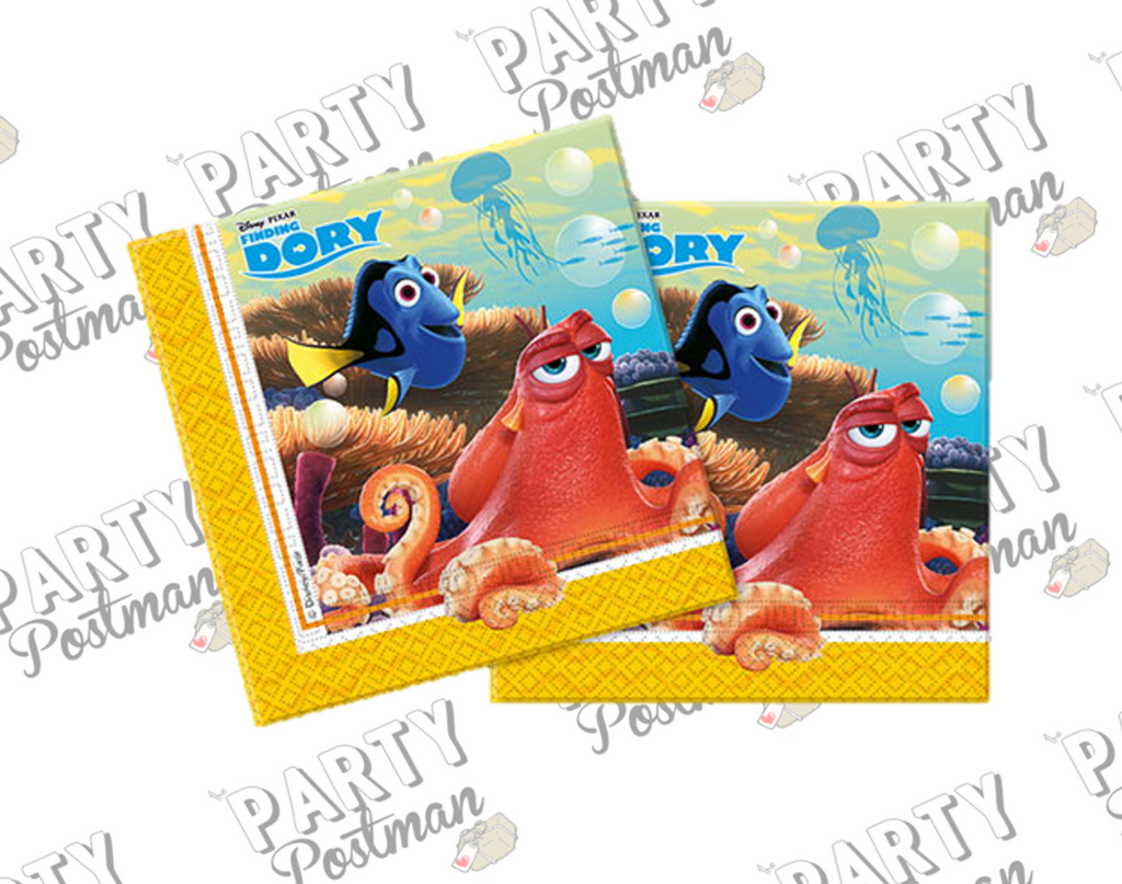 Finding Dory Party Napkins - The Party Postman