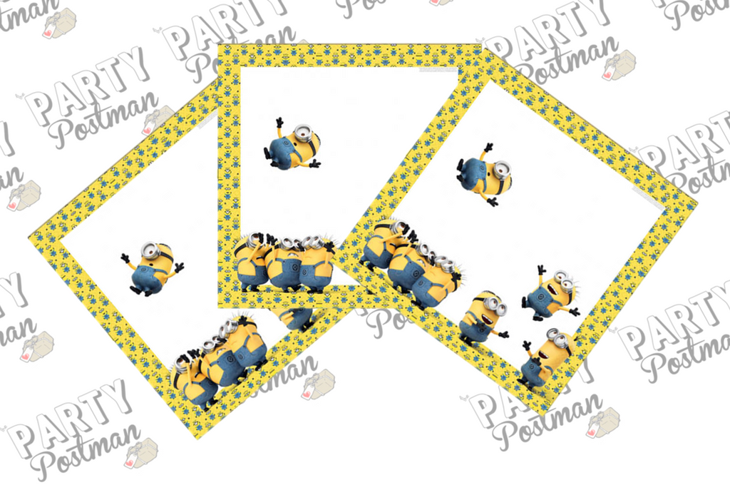 Minion Party Paper Napkins - The Party Postman