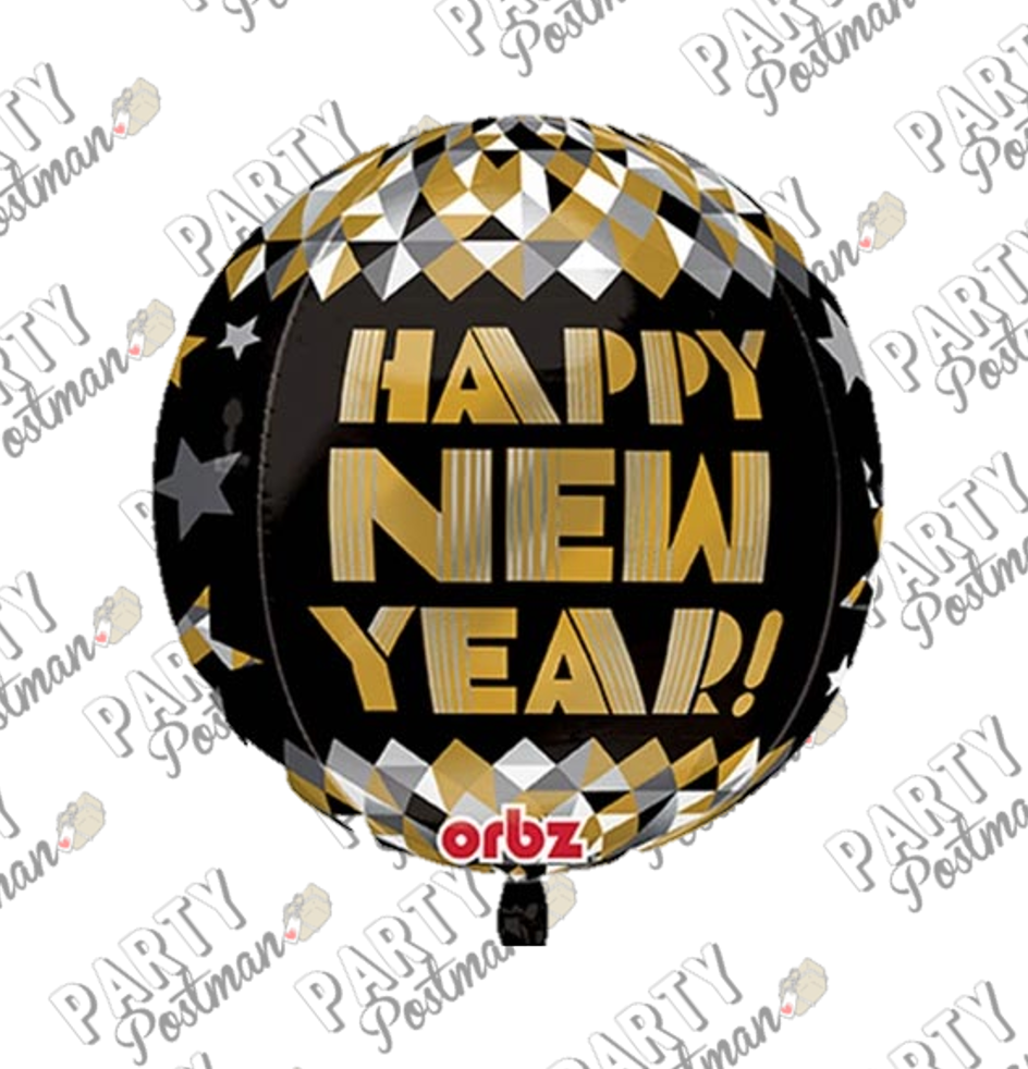 "16"" Orbs Happy New Year Balloon - The Party Postman"