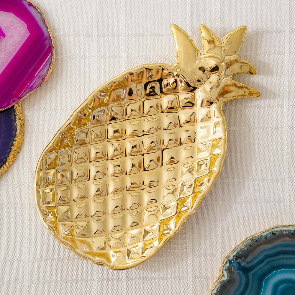 Gold Pineapple Dish