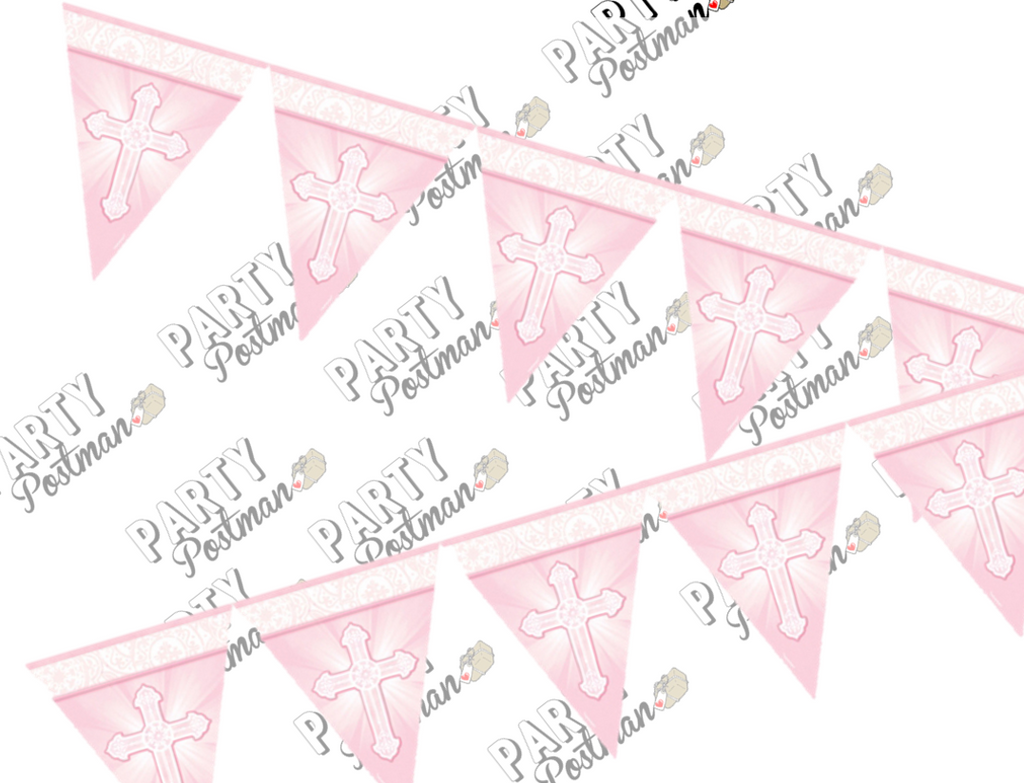 Pink Christening Garland - The Party Postman