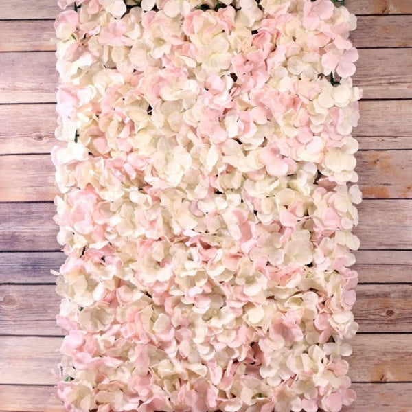 Pink and White Hydrangea Flower Wall Panels