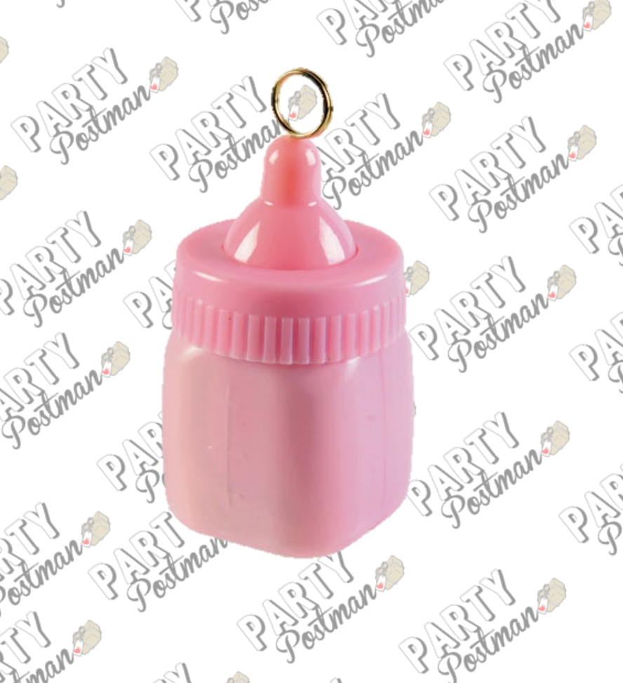 80g Pastel Pink Baby Bottle Balloon Weight - The Party Postman