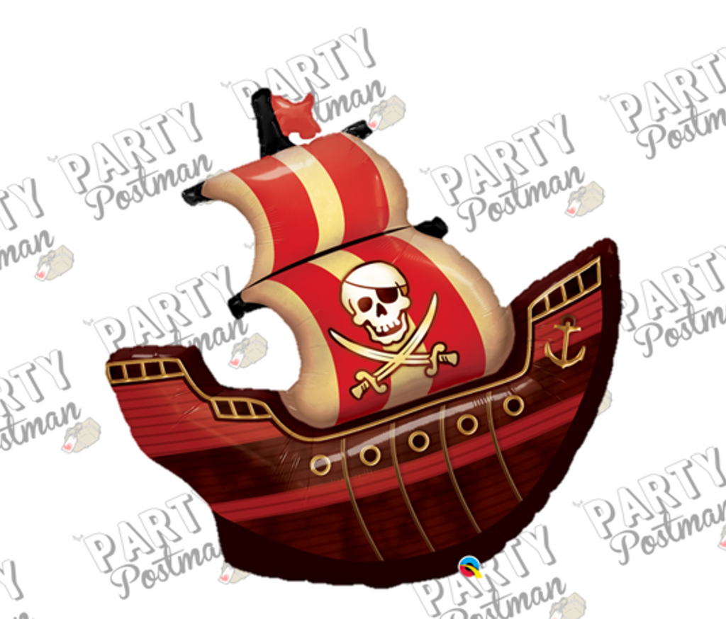 "40"" Pirate Ship Balloon - The Party Postman"