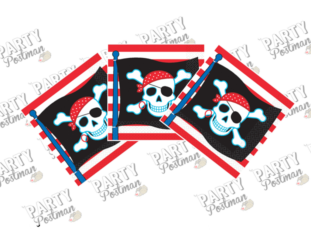 Pirate Paper Party Napkins - The Party Postman