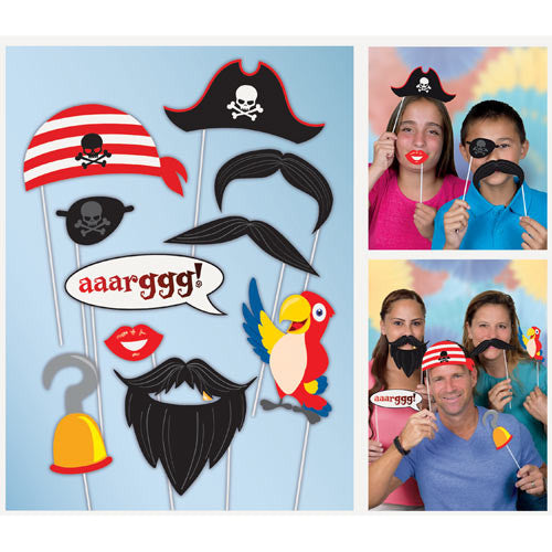 10 Pirate Photo Props - The Party Postman