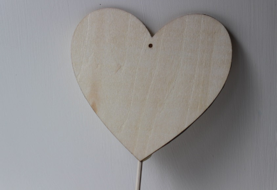 Large Plain Wooden Hearts
