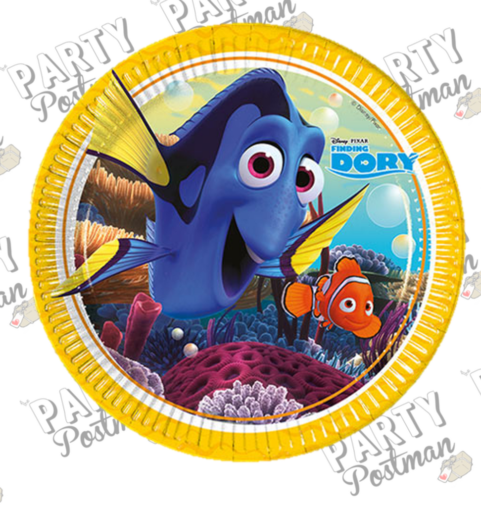 Finding Dory Party Paper Plates - The Party Postman