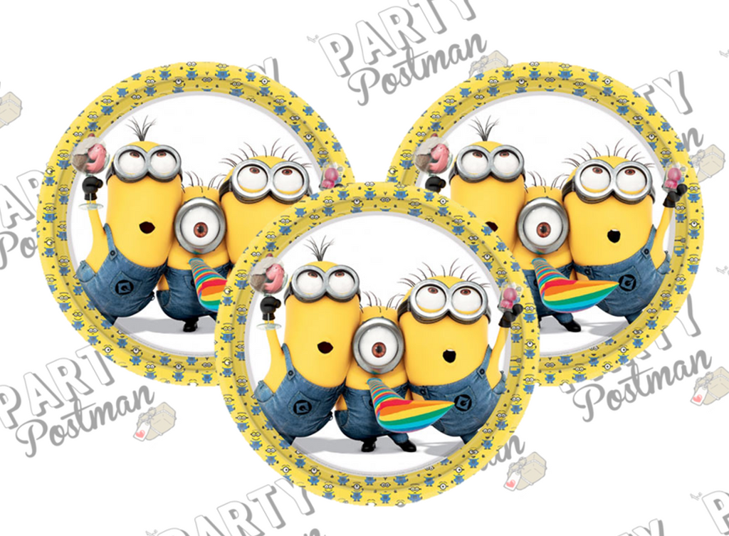 Minion Party Paper Plates - The Party Postman