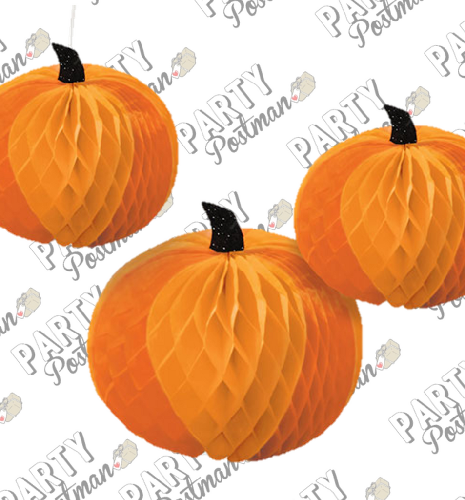 Pumpkin Honeycomb Pack for Table Centerpieces or ceiling decor