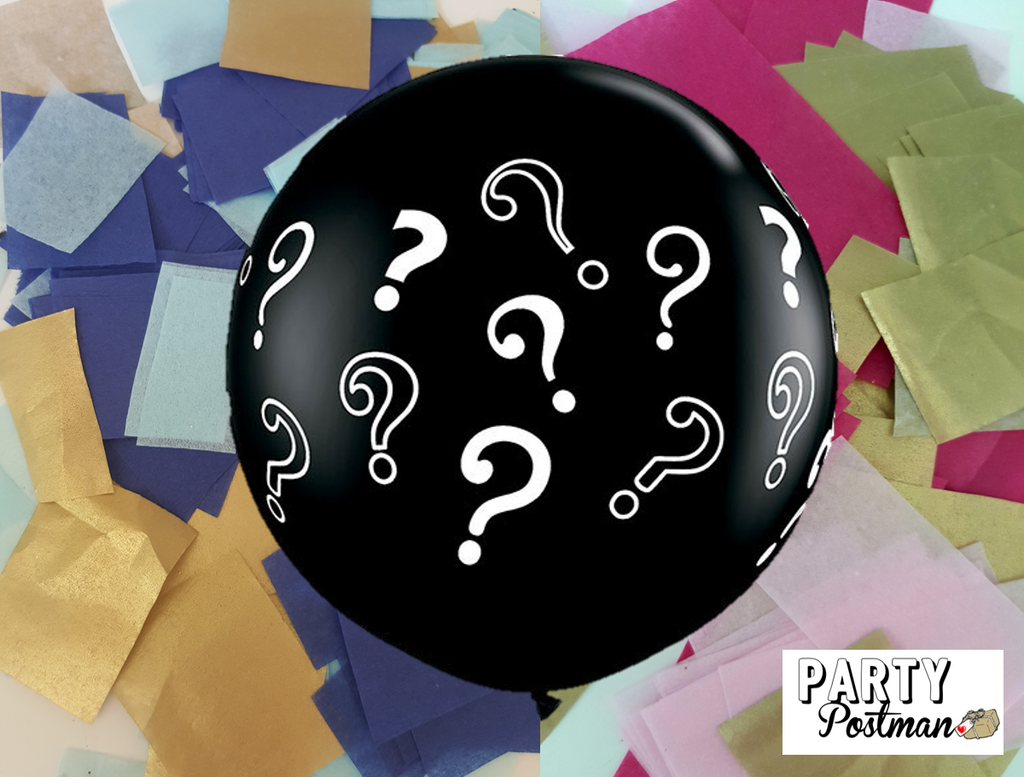 Question Mark Gender Reveal Confetti Balloon - The Party Postman