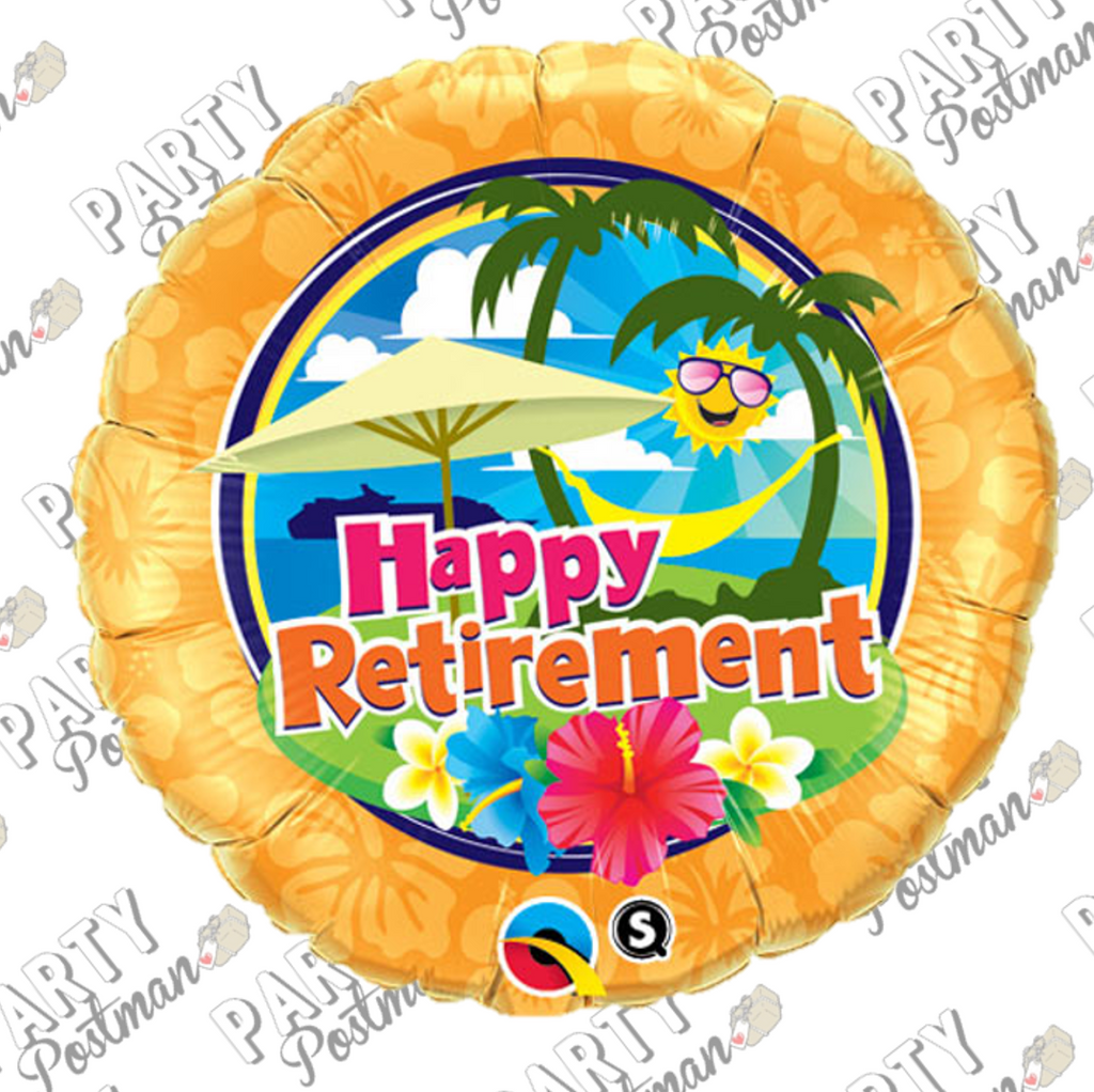 "18"" Sunshine Retirement Balloon - The Party Postman"