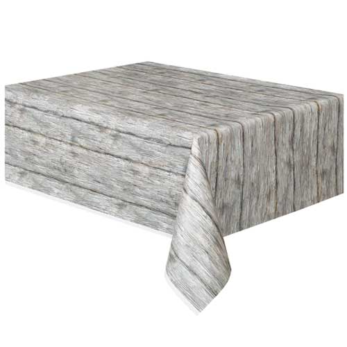 Rustic Wood Design Table cover