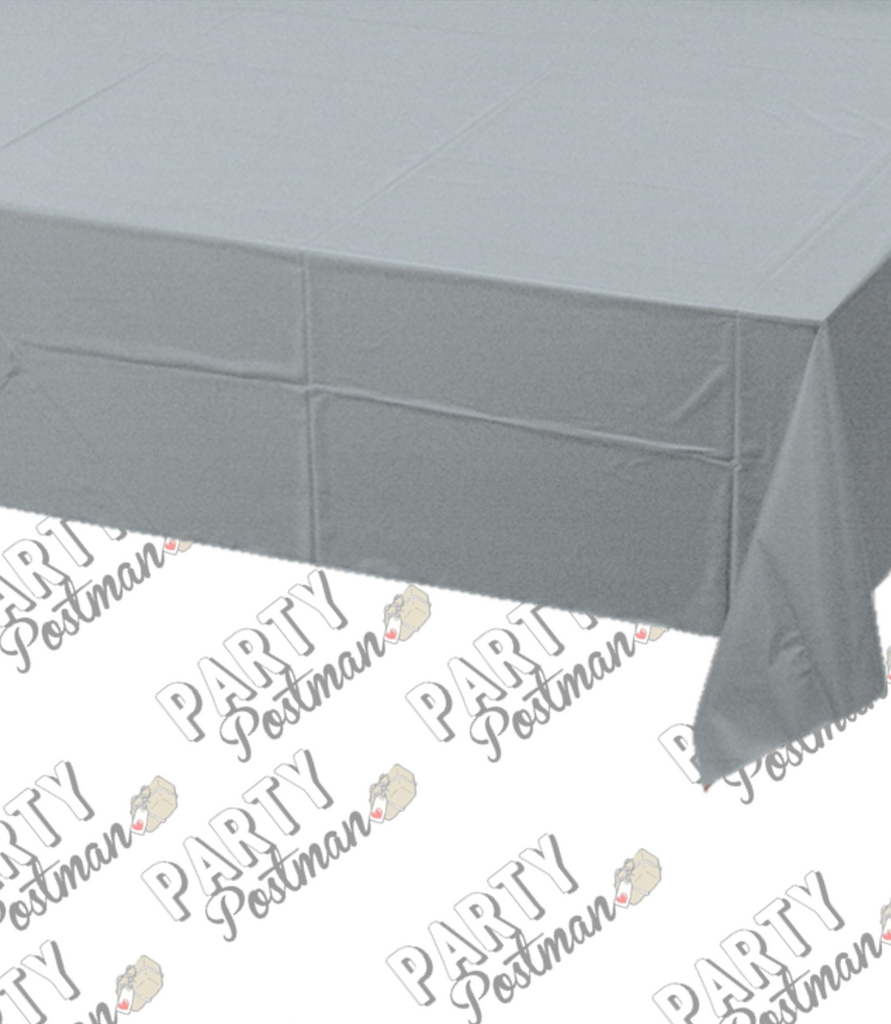 Silver Plastic Table Cloth - The Party Postman