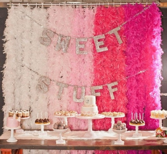 Glitter Sweet Stuff Dessert Table Garland - The Party Postman