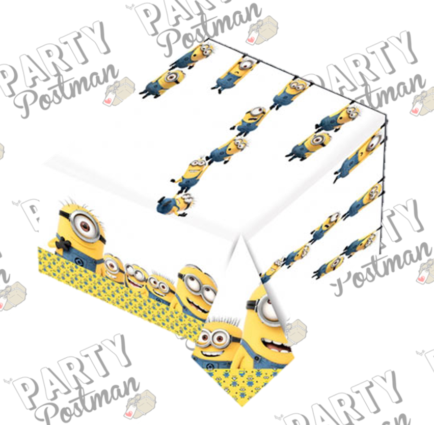 222 & Minion Party Plastic Tablecloth