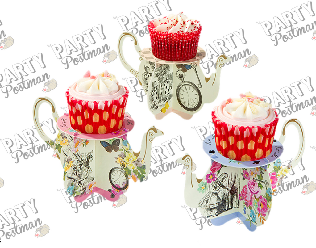 Alice In Wonderland Teacup Cupcake Stands - The Party Postman