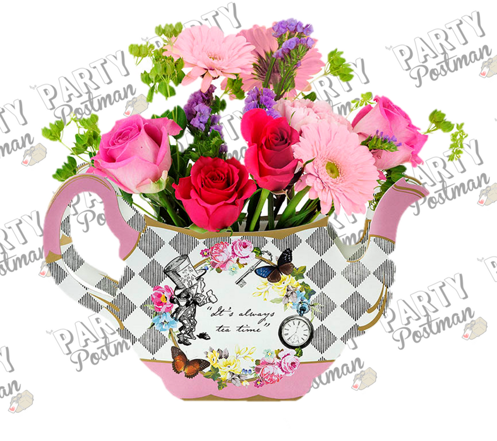Alice In Wonderland Paper Teacup Vase - The Party Postman