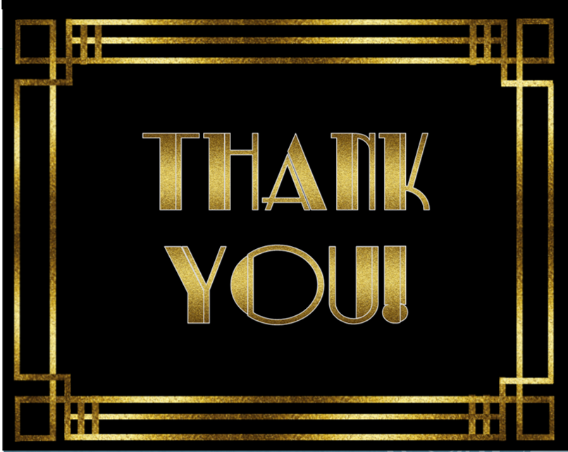 Image result for thank you 1920s