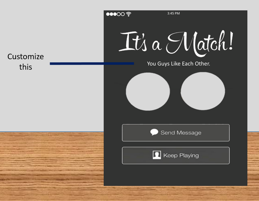 It's a Match! Tinder Frame Photo Booth Prop Funny Prop (Digital File Only) - The Party Postman