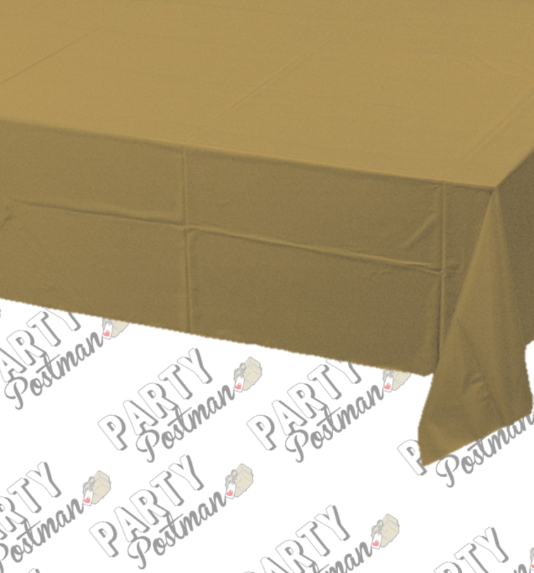 Gold Plastic Table Cloth - The Party Postman
