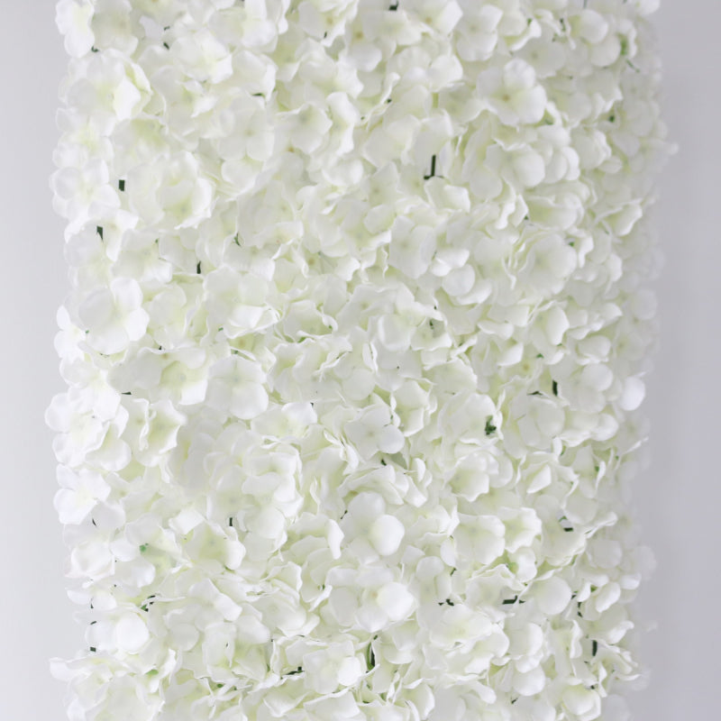 White Hydrangea Flower Wall Panels