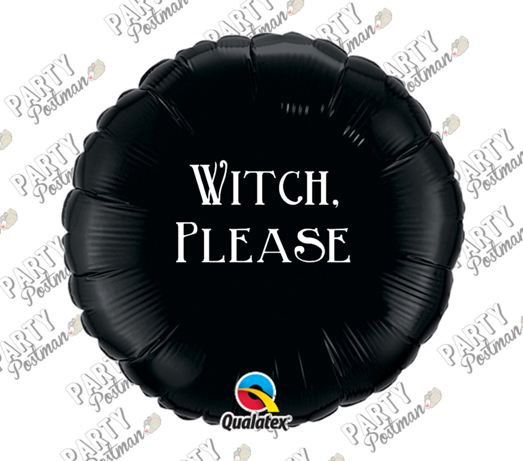 Funny Halloween Phrase Balloon 'Witch Please'