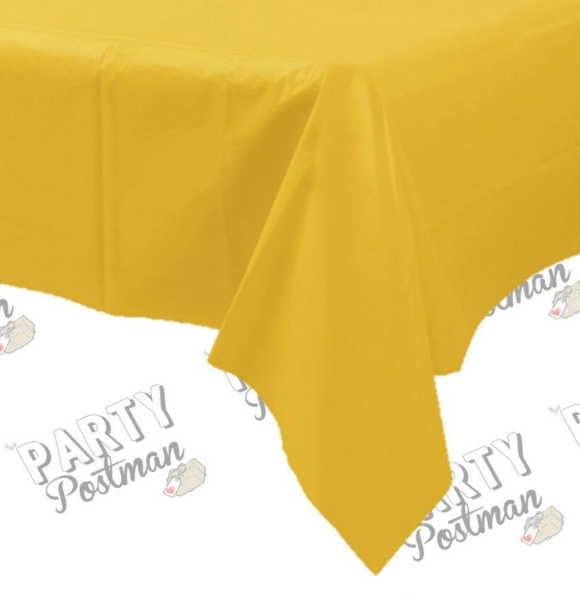 Yellow Plastic Table Cloth - The Party Postman