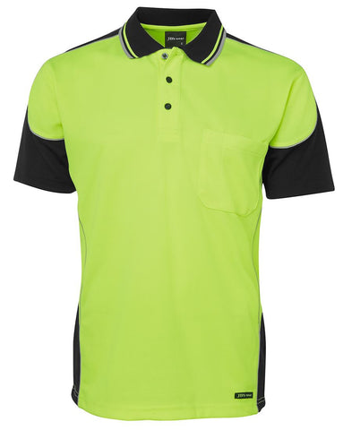 Hi Vis Contrast Piping Polo FREE SHIPPING