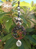 Black Sun Stone Tree of Life Suncatcher FREE SHIPPING