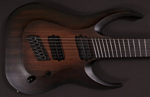 HAPAS Guitars Kayzer 727 Baritone:  Black Coal Burst Over Mahogany Body, Hand wound pickups.