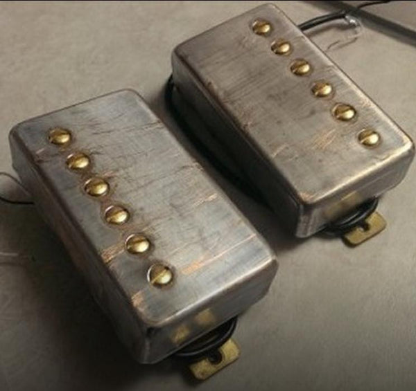 The Guitarmory. Brushed Nickel Cover guitar pickups.