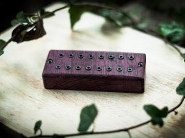 The Guitarmory. Purple Heart Wood Cover guitar pickups.