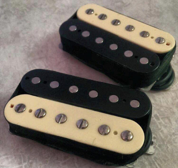 The Guitarmory. Creme Black Zebra Guitar Humbucker pickup.