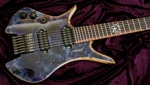 Blackat Guitars. HDA 7 String Multiscale Headless 2