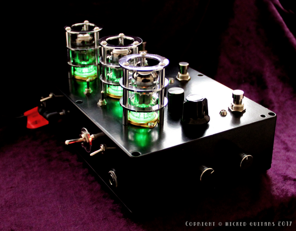 Bock Effects: Unholy Trinity. Valve 2 x Overdrive + 1x Fuzz Hybrid Boutique Guitar Effects Unit